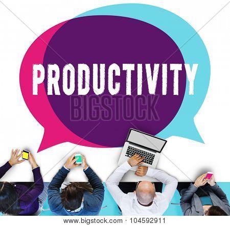 Productivity Production Capacity Efficiency Concept
