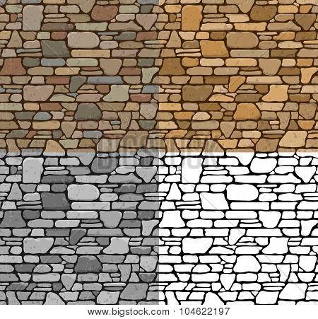 Set Seamless Stone Textures