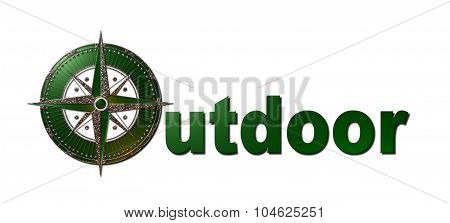 Outdoor (Green & Gold - Windrose)