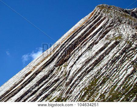 Croda Rossa Mountain in Italy