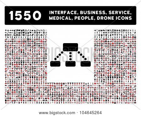 Hierachy Icon and More Interface, Business, Tools, People, Medical, Awards Flat Vector Icons
