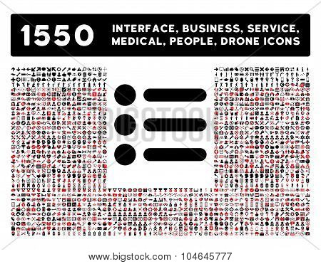 Items Icon and More Interface, Business, Tools, People, Medical, Awards Flat Vector Icons