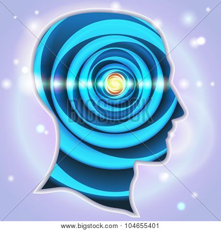 Head Profiles Idea Symbols Pineal Gland