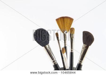 Professional make-up brushes.