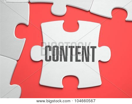 Content - Puzzle on the Place of Missing Pieces.