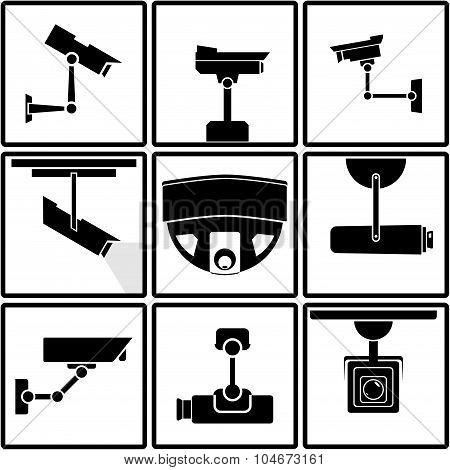 Surveillance camera icons