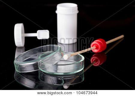 Petri Dish Snd Stool Sample Bottle