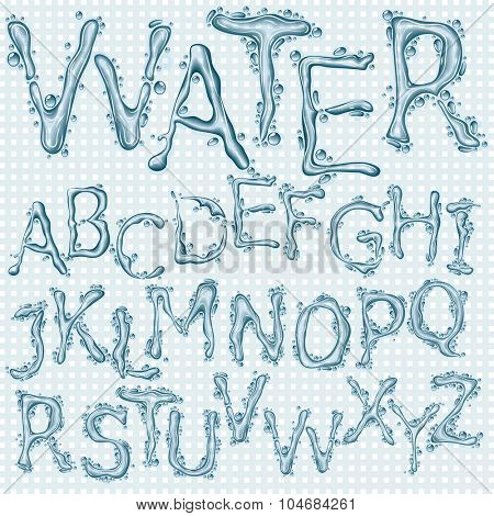 Water splash headline letters