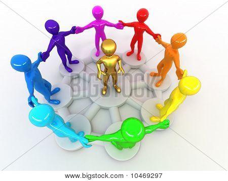 Conceptual Image Of Leadership
