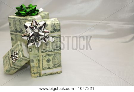 Presents Wrapped In Money