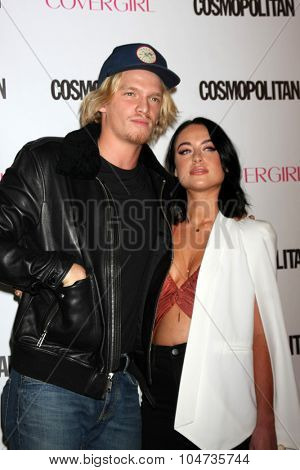 LOS ANGELES - OCT 12:  Cody Simpson, Alexx Mack at the Cosmopolitan Magazine's 50th Anniversary Party at the Ysabel on October 12, 2015 in Los Angeles, CA