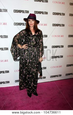 LOS ANGELES - OCT 12:  Erin Cummings at the Cosmopolitan Magazine's 50th Anniversary Party at the Ysabel on October 12, 2015 in Los Angeles, CA