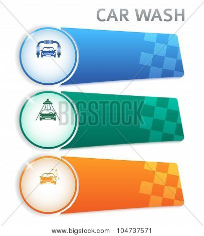 Carwash-layout-horizontal-banner-button-isolated