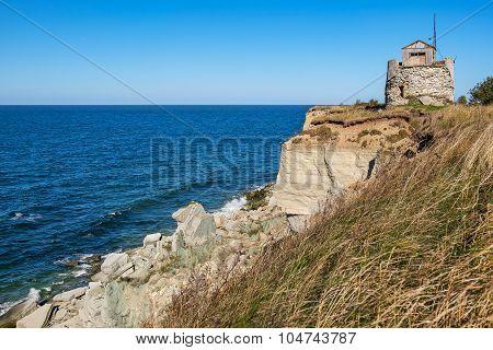 Rocky cliffs of Paldiski. Pakri peninsula Baltic sea Estonia poster