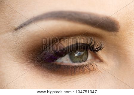 Closeup Photo Of Eye
