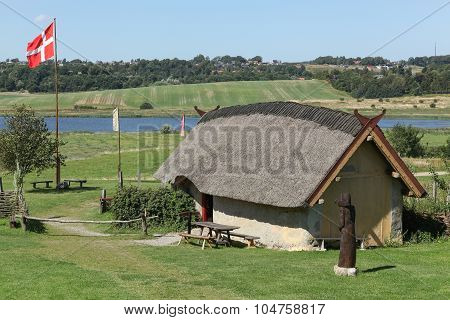 Viking house in Hobro, Denmark