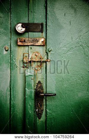 Old Door With Locks