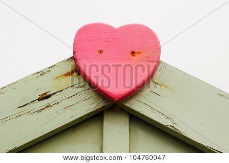 Pink Wooden Heart