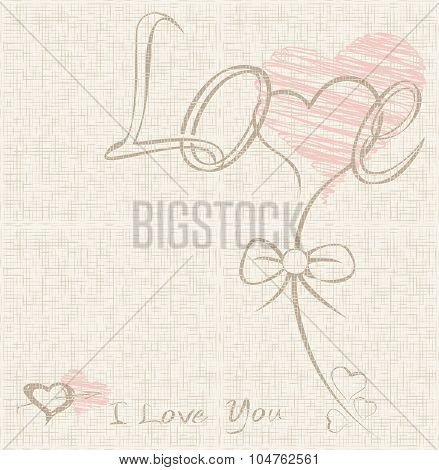 vector Hearts, Valentine background. The valentines day. Love heart. Hand drawn icons symbols.