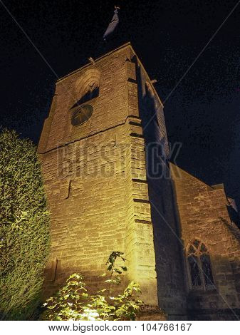 St Mary Magdalene Church In Tanworth In Arden At Night