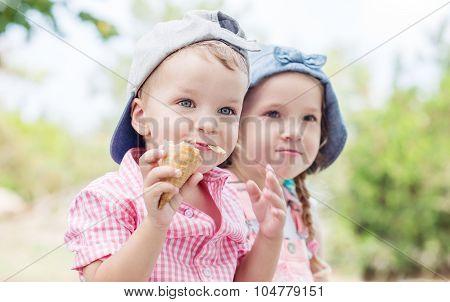 Toddler Happy Children  In Summer