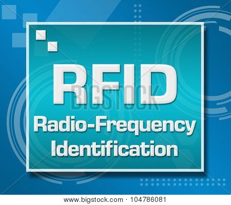 RFID Blue Technical Background