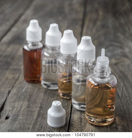 E-cigarettes,  Different Re-fill Bottles