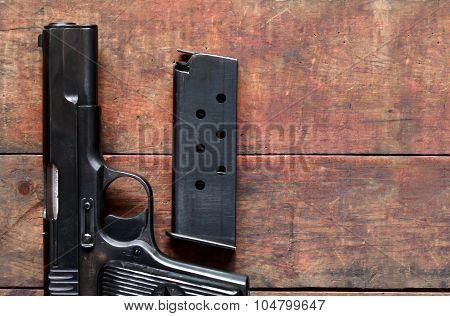 Pistol And Holder