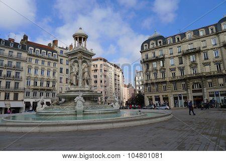 Place des Jacobins in Lyon, France