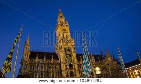 Townhall Munich By Night