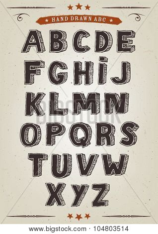 Hand Drawn Elegant Alphabet Set
