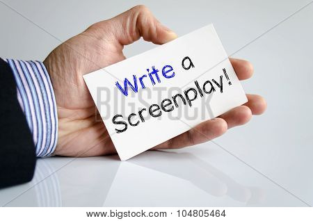 Write a screenplay text concept