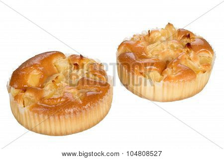 Small Cake With Apple Fruits