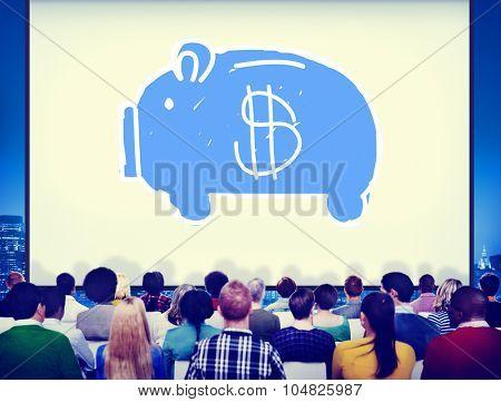 Piggy Bank Saving Money Economize Profit Concept