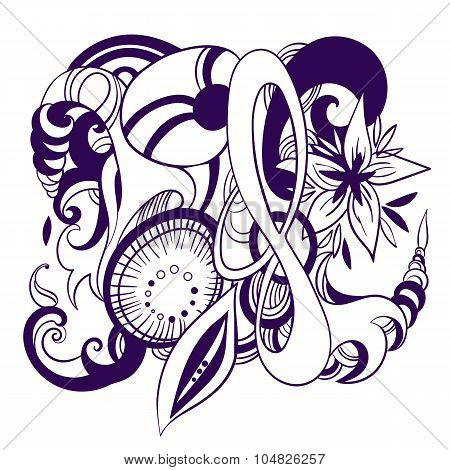 Abstract vector tatoo heraldyc symbol