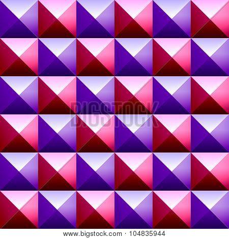 Colorful pyramids seamless vetor pattern