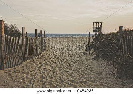 Beach At Dusk, Matte