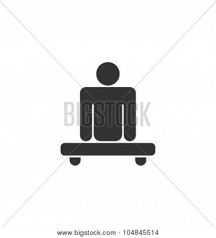 Pictogram of Amputee in Wheelchair