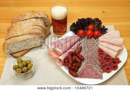 Salami plate