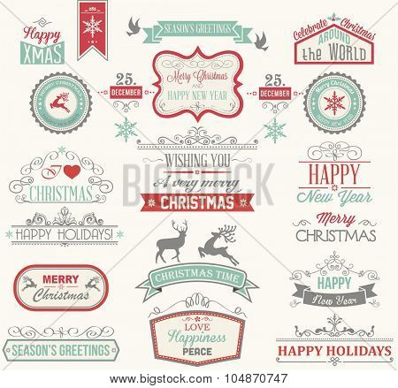 Christmas Label and Design Elements