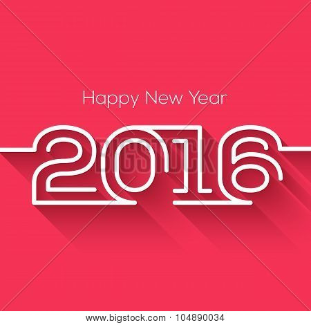 Creative happy new year 2016 design. Flat design. Happy new year 2016 creative greeting card design