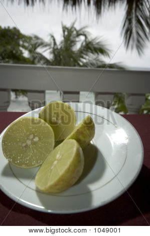 Limes On Plate