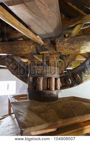 Interior Of Windmill; Campo De Criptana; Castilla La Mancha; Spain