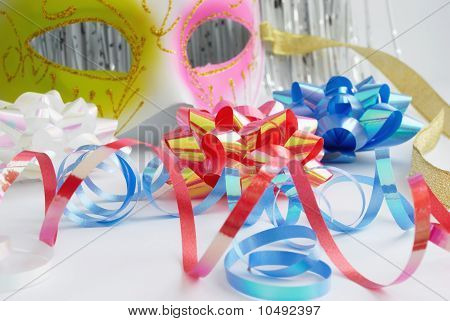 Carnival Mask And Decorative Bows