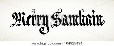 Merry Samhain Calligraphy