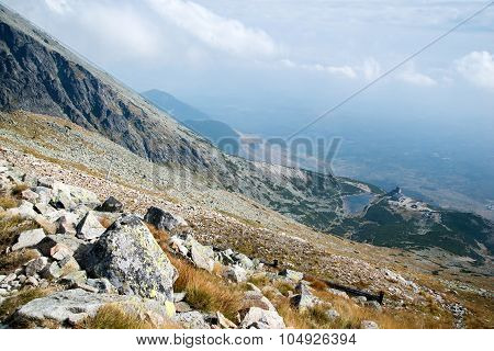 skyline view from Lomnicke sedlo peak