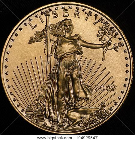American Gold Eagle Walking Liberity