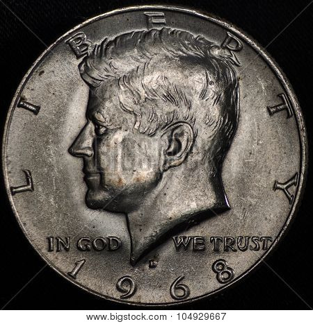 American Silver Half Dollar Coin (1968)
