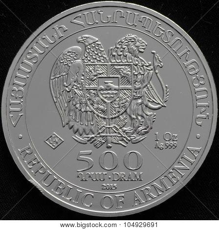 Armenian Silver Coin 1 Ounce Ag