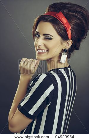 Winking Enticing Woman